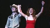 Matt Cavenaugh and Jenn Colella fight tears as they bow for what they think is the last time together.