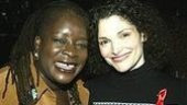 Ebony Jo-Ann (formerly of Ma Rainey's Black Bottom) with Man of La Mancha star Mary Elizabeth Mastrantonio.