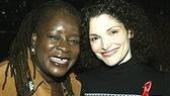 Ebony Jo-Ann (formerly of Ma Rainey's Black Bottom) with Man of La Mancha star Mary Elizabeth Mastrantonio.