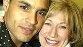 Take Me Out nominee Daniel Sunjata with Enchanted April's Jayne Atkinson.