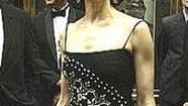 La Mancha nominee Mary Elizabeth Mastrantonio looked radiant in her black and white sheath dress.