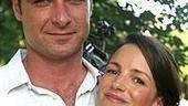 Henry V star Liev Screiber with date Kristin Davis.