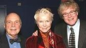 Burstyn poses with playwright Martin Tahse (left) and director Don Scardino.