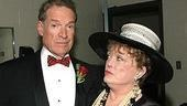 Kimbrough and Rue McClanahan (who was hilarious as Mother Burnside) size each other up before the show.