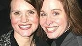 The original gals of Urinetown:Jennifer Laura Thompson and Nancy Opel at the party.