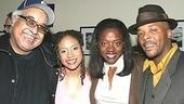 Guest Viola Davis (in white) poses with Drowning Crow director Marion McClinton and stars Tracie Thoms and Curtis McClarin.