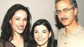 Hannah and Martin playwright Kate Fodor (center)with stars Melissa Friedman and David Strathairn.