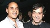 Take Me Out reunion! Daniel Sunjata and Joe Mantello.