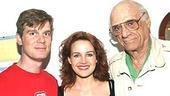After the Fall legendary playwright Arthur Miller (right)with stars Peter Krause and Carla Gugino.