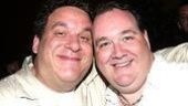 Curb Your Enthusiasm star Jeff Garlin with Hairspray's Blake Hammond.