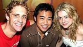 Castmates Colin Hanlon, Enrico Rodriguez and Kendra Kassebaum.