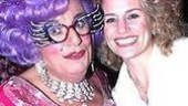 Two Tony winners!Dame Edna with former Ednaette Cady Huffman.