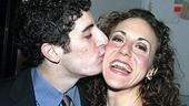 Jason Biggs plants one on co-star Jenn Harris.