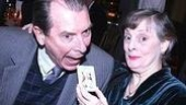 Dana Ivey feeds co-star Richard Easton an opening night cookie.