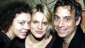 Amy Spanger (center) with Laugh Whore choreographer Lisa Leguillou and director Joe Mantello.