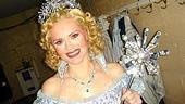 Jennifer Laura Thompson, in full Glinda drag.