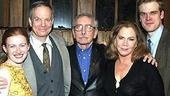 Plawyright Edward Albee visited the cast--Mireille Enos, Bill Irwin, Kathleen Turner and David Harbour--backstage right after the curtain call.