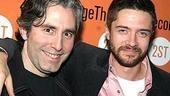 Privilege playwright Paul Weitz with Topher Grace, who starred in Weitz's film In Good Company.