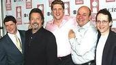 Spamalot Nominees: Stars Michael McGrath, Tim Curry and Christopher Sieber with choreographer Casey Nicholaw and orchestrator Larry Hochman.