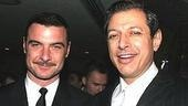 Liev Schreiber (Glengarry Glen Ross)and nominee Jeff Goldblum (The Pillowman).