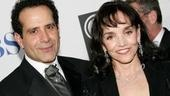 Tony Shalhoub and wife Brooke Adams  at the 2005 Tony Awards.
