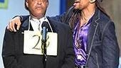 Reverend Al Sharpton and Spelling Bee star Derrick Baskin