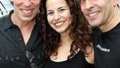 Lennon stars Terrence Mann and Mandy Gonzalez with Brian Rothschild, who serves as the executive director of The John Lennon Educational Bus Tour.