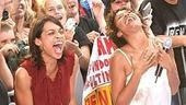 ...as Rosario Dawson and Tracie Thoms scream from the sidelines.