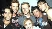 Anthony Rapp at Altar Boyz/Andy Karl Final Perf - Ryan Duncan - Andy Karl - Anthony Rapp - Danny Calvert - David Josefsberg - Scott Porter