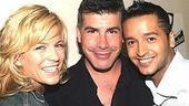 Louisiana natives Felicia Finley and Bryan Batt pose with Jai Rodriguez.