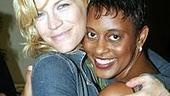 Former Aida costars Felicia Finley and Schele Williams get close backstage.