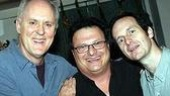 How sweet it is!Dirty Rotten Scoundrels star John Lithgow with Sweet Charity's Wayne Knight and Denis O'Hare.