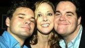 Hunter Foster (Leo Bloom), Angie Schworer (Ulla) and John Treacy Egan (the incoming Max Bialystock).