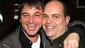 Jim Borstelmann poses with longtime Producers star Brad Oscar (the outgoing Max Bialystock).
