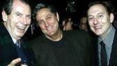 Stars Richard Easton and Michael Emerson flank NYTW Artistic Director James C. Nicola.