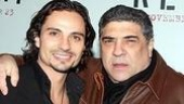 Jason Foster, who plays The Man in Rent (aka Mimi's drug dealer) with Vincent Pastore.