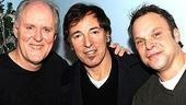 Dirty Rotten Scoundrels stars John Lithgow and Norbert Leo Butz flank Bruce Springsteen.
