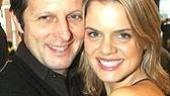 Choreographer Rob Ashford gets close to Amy Spanger.