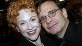 Former Phantom cast member Tracy Shayne ges close to Peter Scolari.