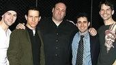 James Gandolfini at Jersey Boys - Daniel Reichard - Christian Hoff - James Gandolfini - John Lloyd Young - J. Robert Spencer