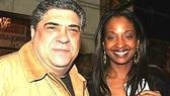 Ring of Fans: Sopranos' Vincent Pastore with his girlfriend, Peggy Brilliant.