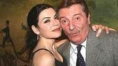Julianna Margulies pulls Larry Bryggman in for an opening night hug.