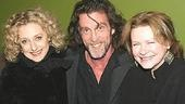 Wicked's Carol Kane poses with Lortel nominees John Glover (The Paris Letter) and Dianne Wiest (Third).