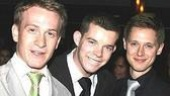 Bringing on the History Boys! Jamie Parker, Russell Tovey with their Drama Desk and Tony nominated cast mate Samuel Barnett.