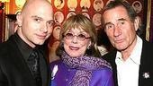 Tony winners, three! Presenter Phyllis Newman (won for Subways are for Sleeping) flanked by Michael Cerveris (for Assassins) and Jim Dale (for Barnum).
