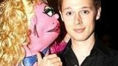 Aww, it's just puppet love. Samuel Barnett, Best Featured Actor nominee for The History Boys, hears some sweet nothings.