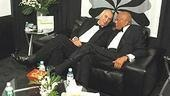 Frank Langella and Harry Belafonte, two guys in tuxes just chillin' on a leather lounge couch. What a way to spend an evening.