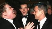 Guffaw or mid-sneeze? Only James Corden,Russell Tovey and T.R. Knight know for sure.