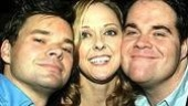 Past and future Producers cast mates:Hunter Foster, Angie Schworer& John Treacy Egan