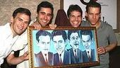 With their new portrait: Daniel Reichard,John Lloyd Young, J. Robert Spencerand Christian Hoff.